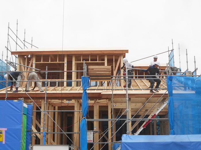 【上棟】葵西16期B号地 新築一戸建て住宅