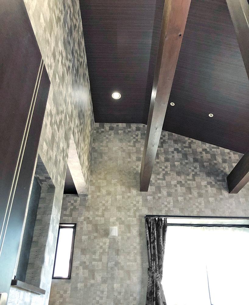 寝室<br> 開放感のあるおしゃれな天井