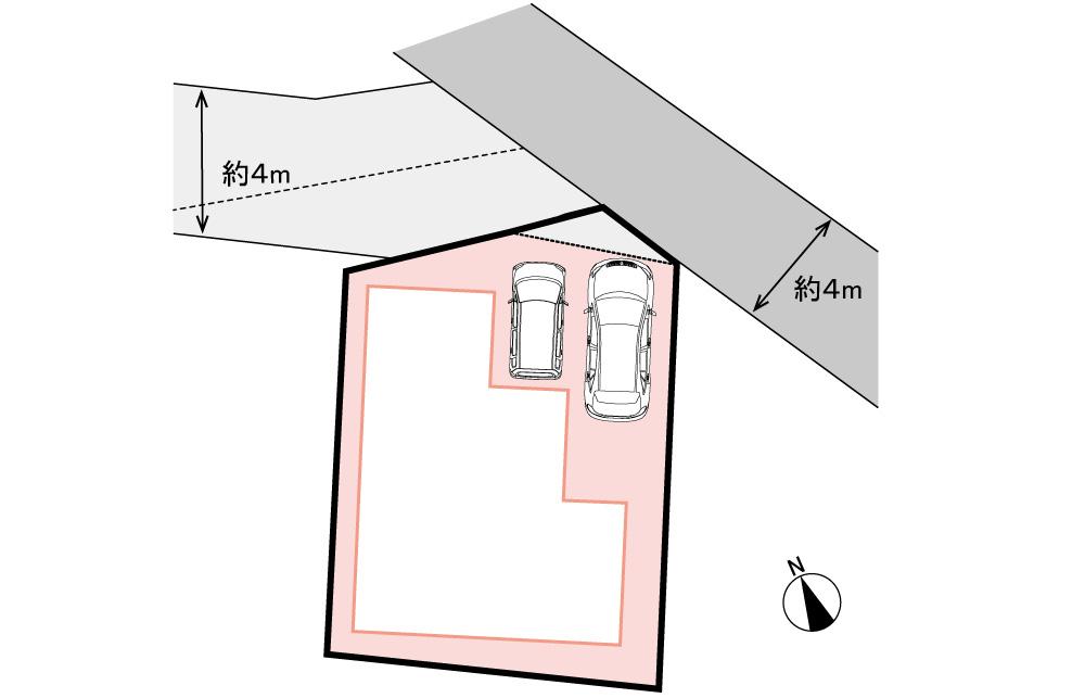 全体区画図<br> 駐車2台。限定1区画です。