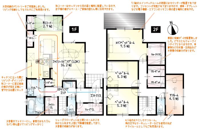 【今月着工】萩丘3丁目7期 新築一戸建て住宅