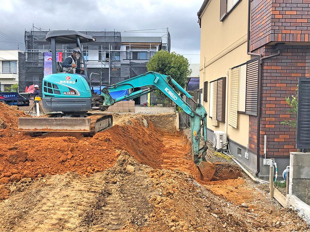 (2021年7月)擁壁部分 掘削作業