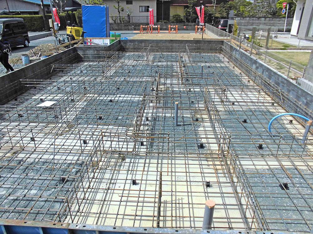 2021年4月:基礎配筋工事