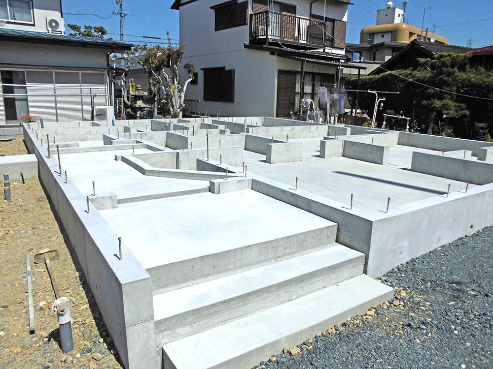 2021年3月:コンクリート打設