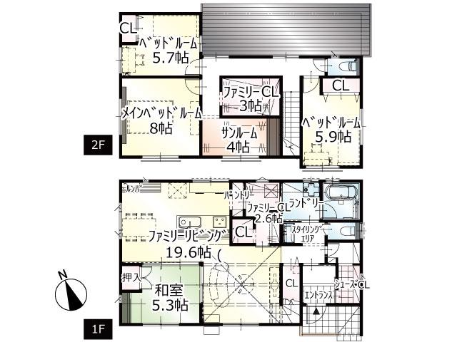 【完成】小松12期C号地 新築一戸建て住宅