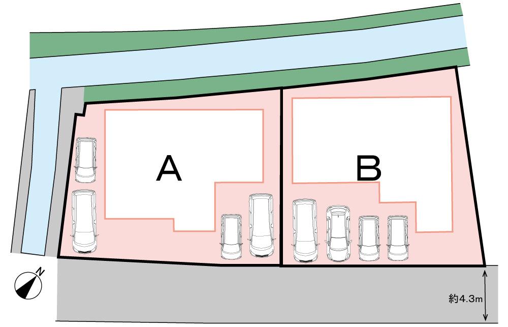 全体区画図<br> 全2区画の土地・分譲地です。