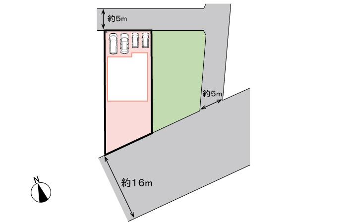 全体区画図<br> 両面道路の限定1区画です。