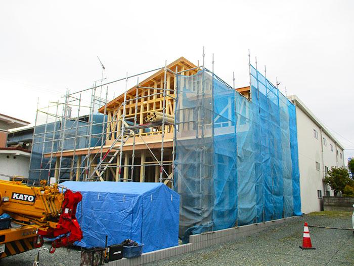 【上棟】磐田市国府台 新築一戸建て住宅
