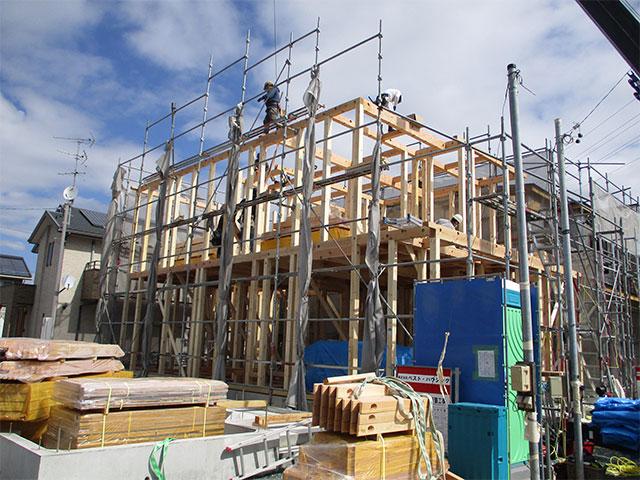 【上棟】領家1丁目9期B号地 新築一戸建て住宅