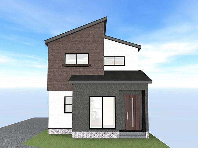 完成予想図<br> 地盤保証+液状化保証!/耐震等級3+繰り返しの地震から家を守るミライエ搭載/防犯ガラス/建築中見学可能