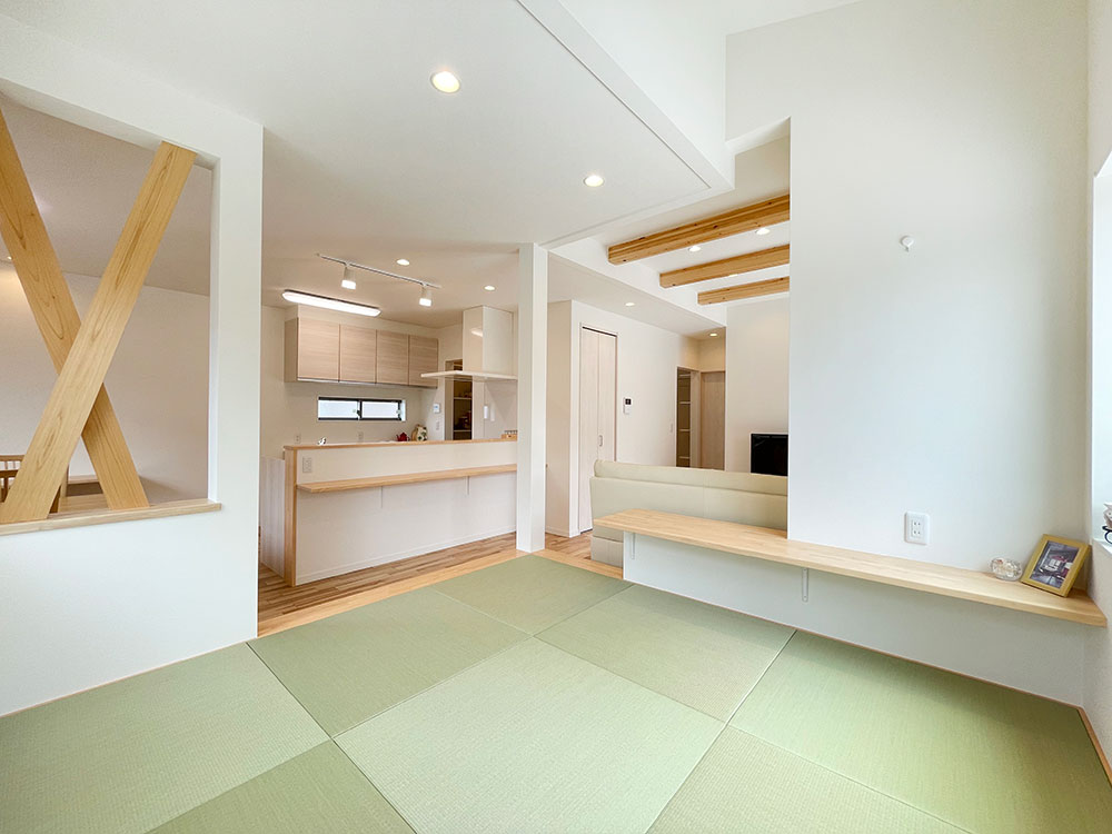 4.5帖のhttps://www.besthousing.co.jp/wp-admin/post.php?post=6867&action=edit#和空間<br> 帰宅後ここでゆっくりしながらキッチンにいるお母さんと話ができるくつろぎ空間。