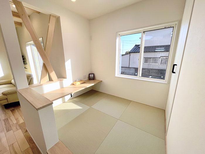 和空間<br> 子どものお昼寝スペースやくつろぎスペースにも最適な和空間。