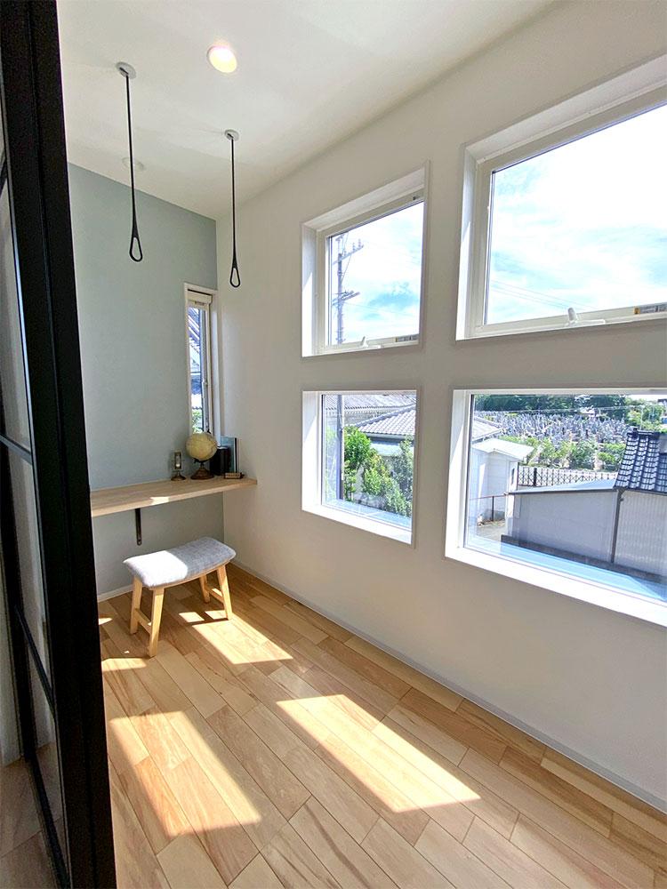 洗濯作業⑥:2階サンルーム&書斎