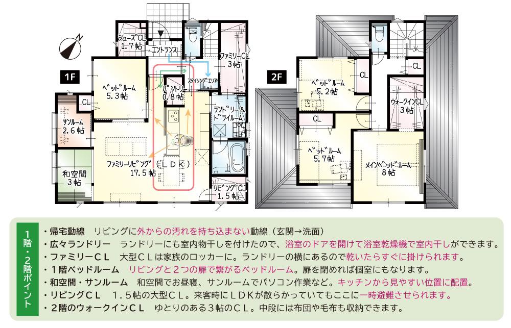 【完成】富塚町10期A号地 新築一戸建て住宅