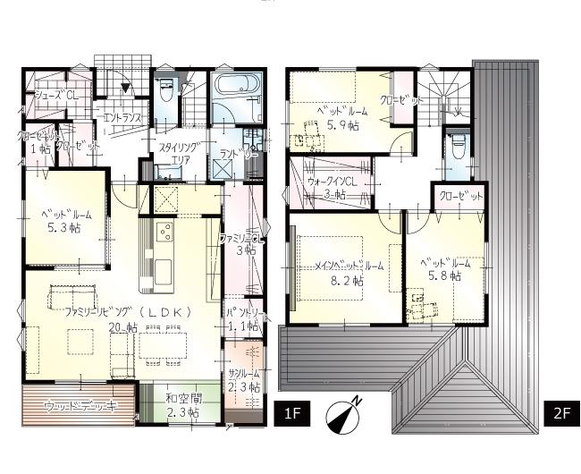 【上棟】富塚町10期B号地 新築一戸建て住宅